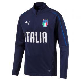 Italy Training 1/4 Zip Top - Navy