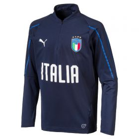 Italy Training 1/4 Zip Top - Navy - Kids