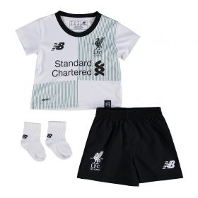 Liverpool Away Baby Kit 2017-18 with Klavan 17 printing
