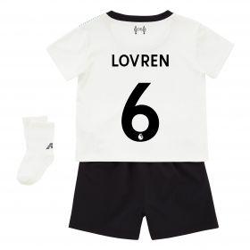 Liverpool Away Baby Kit 2017-18 with Lovren 6 printing
