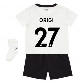 Liverpool Away Baby Kit 2017-18 with Origi 27 printing