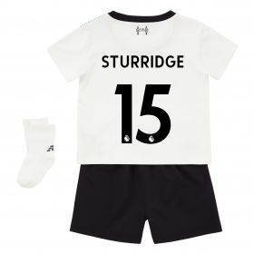 Liverpool Away Baby Kit 2017-18 with Sturridge 15 printing