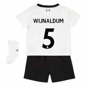 Liverpool Away Baby Kit 2017-18 with Wijnaldum 5 printing
