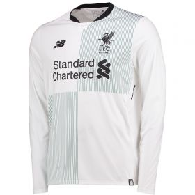 Liverpool Away Shirt 2017-18 - Long Sleeve - Kids with Chamberlain 21 printing
