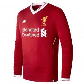 Liverpool Home Shirt 2017-18 - Long Sleeve with Virgil 4 printing