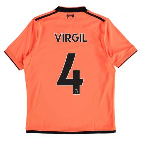 Liverpool Third Shirt 2017-18 - Kids with Virgil 4 printing