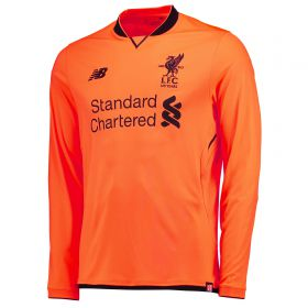 Liverpool Third Shirt 2017-18 - Long Sleeve - Kids with Virgil 4 printing
