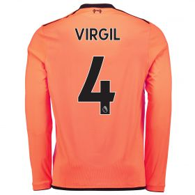 Liverpool Third Shirt 2017-18 - Long Sleeve with Virgil 4 printing