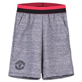 Manchester United Sweat Shorts - White - Kids