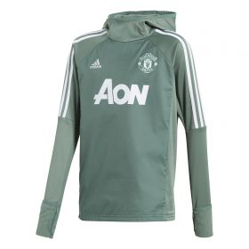 Manchester United Training Warm-up Top - Green - Kids