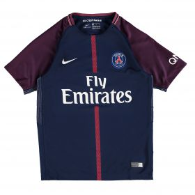 Paris Saint-Germain Home Stadium Shirt 2017-18 - Kids with Silva 2 printing