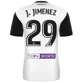 Valencia CF Home Shirt 2017-18 with J. Jiménez 29 printing