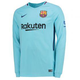 Barcelona Away Stadium Shirt 2017-18 - Long Sleeve with Coutinho TBC printing