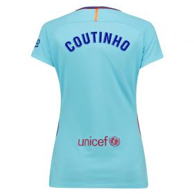 Barcelona Away Stadium Shirt 2017-18 - Womens with Coutinho TBC printing