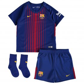 Barcelona Home Stadium Kit 2017/18 - Infants - Unsponsored with Coutinho TBC printing