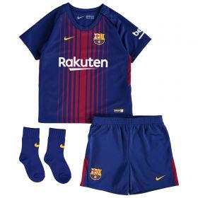 Barcelona Home Stadium Kit 2017/18 - Infants with Digne 19 printing