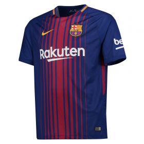 Barcelona Home Stadium Shirt 2017-18 - Kids with Coutinho TBC printing