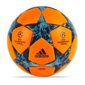 adidas UEFA Champions League Finale 17 Official Winter Match Football - Solar Orange/Mystery Petrol/Blue Night - Size 5