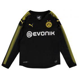 BVB Away Shirt 2017-18 - Kids - Long Sleeve with Akanji 16 printing
