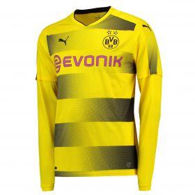 BVB Home Shirt 2017-18 - Long Sleeve with Akanji 16 printing
