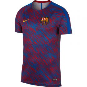 Barcelona Squad Pre Match Training Top - Red