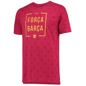 Barcelona Squad T-Shirt - Red