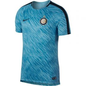 Inter Milan Squad Pre Match Training Top - Blue