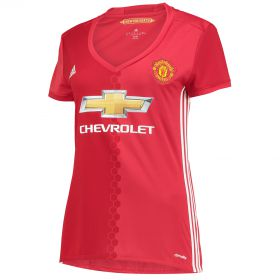 Manchester United Home Shirt 2016-17 - Womens with Pogba 6 printing