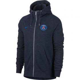 Paris Saint-Germain Authentic Full Zip Hoodie - Dk Blue