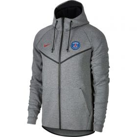 Paris Saint-Germain Authentic Tech Fleece Windrunner - Dk Grey