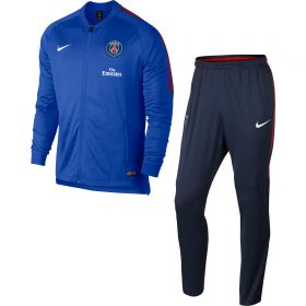 Paris Saint-Germain Squad Knit Tracksuit- Blue