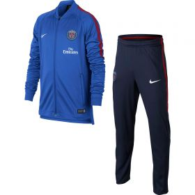 Paris Saint-Germain Squad Knit Tracksuit- Blue - Kids