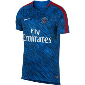 Paris Saint-Germain Squad Pre Match Training Top - Blue