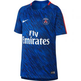 Paris Saint-Germain Squad Pre Match Training Top - Blue - Kids