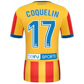Valencia CF Away Shirt 2017-18 with Coquelin 17 printing