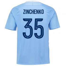 Manchester City Home Cup Stadium Shirt 2017-18 with Zinchenko 35 printing