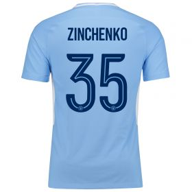 Manchester City Home Cup Vapor Match Shirt 2017-18 with Zinchenko 35 printing