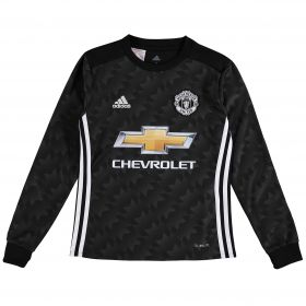 Manchester United Away Shirt 2017-18 - Kids - Long Sleeve with Alexis 7 printing