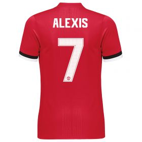 Manchester United Home Adi Zero Cup Shirt 2017-18 with Alexis 7 printing
