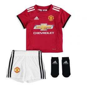 Manchester United Home Baby Kit 2017-18 with Alexis 7 printing