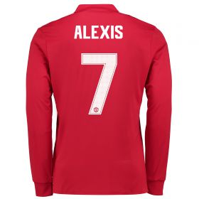 Manchester United Home Cup Shirt 2017-18 - Kids - Long Sleeve with Alexis 7 printing