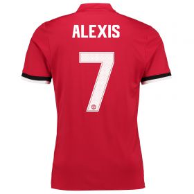 Manchester United Home Cup Shirt 2017-18 - Kids with Alexis 7 printing
