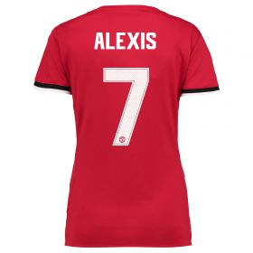 Manchester United Home Cup Shirt 2017-18 - Womens with Alexis 7 printing