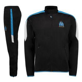 Olympique de Marseille Polyester Tracksuit - Black - Mens