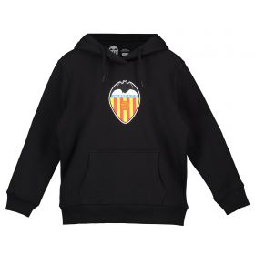 Valencia CF Distressed Crest Hoodie - Black - Junior