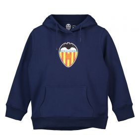 Valencia CF Distressed Crest Hoodie - Navy - Junior