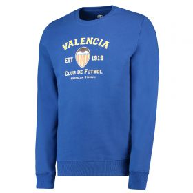 Valencia CF Established 1919 Crew Neck Sweater - Cobalt Blue - Adult
