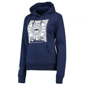 Valencia CF Gothic Graphic Hoodie - Navy - Womens