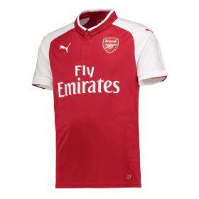 Arsenal Home Shirt 2017-18 - Outsize with Monreal 18 printing