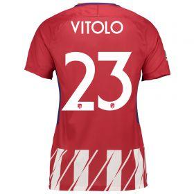 Atlético de Madrid Home Stadium Shirt 2017-18 - Womens Special Edition Metropolitano with Vitolo 23 printing